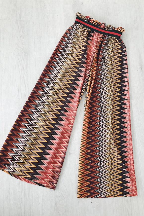 vendita calda online 2e28b 49c23 Pantaloni lurex a righe stile Missoni