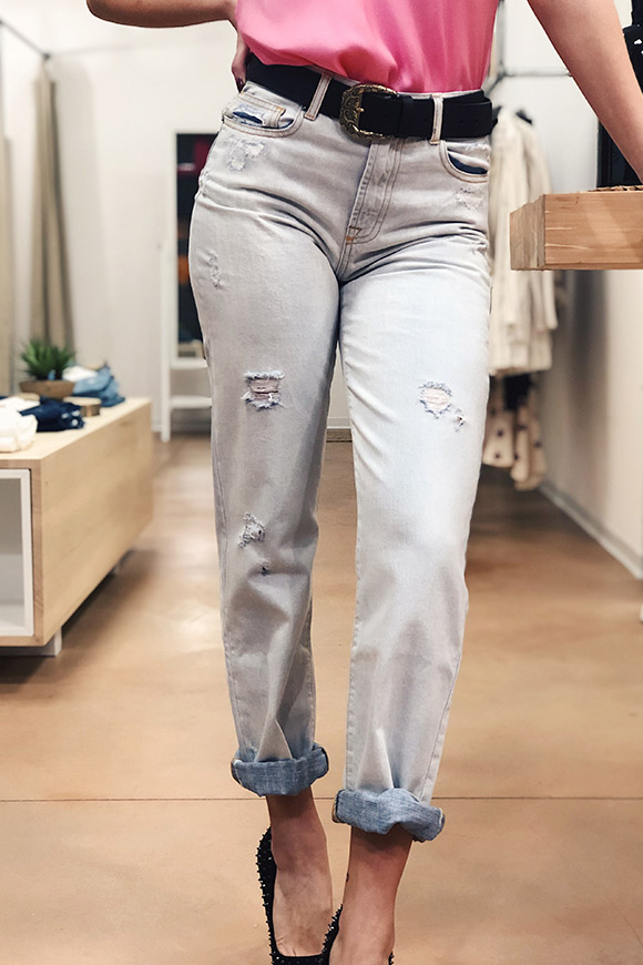 Vicolo - Light mum fit jeans with tears