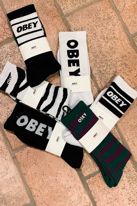 Obey - Calze cooper nere e bianche
