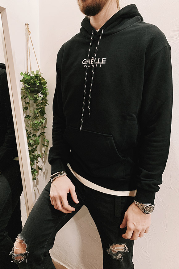 Gaelle - Black hooded sweatshirt