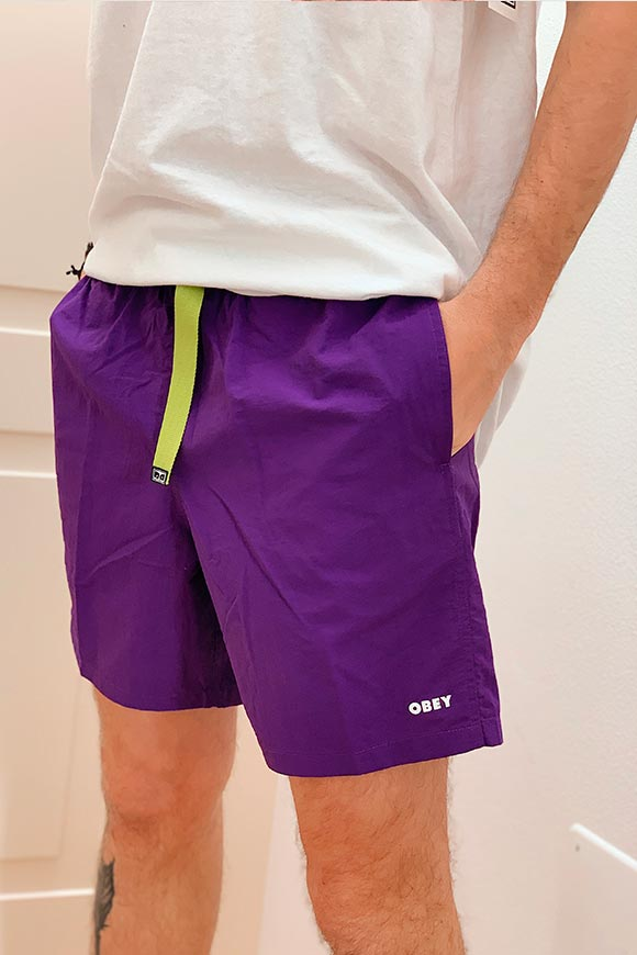 Obey - Trek purple shorts