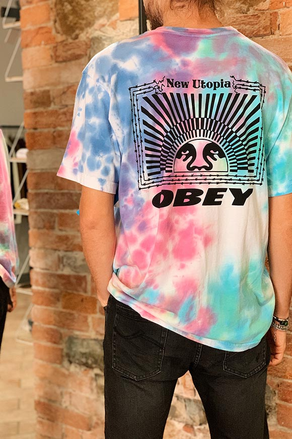 Obey - T shirt tie dye new utopia