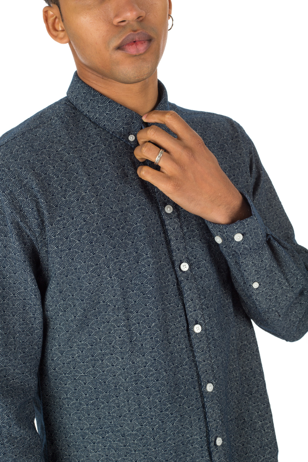 Minimum - Blue Miro shirt with decorations