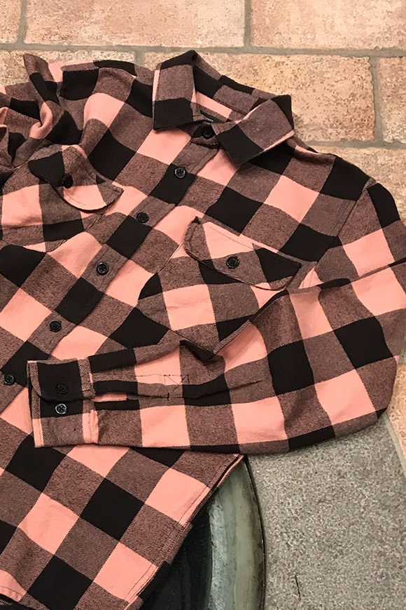 Obey - Pink and black checked flannel shirt