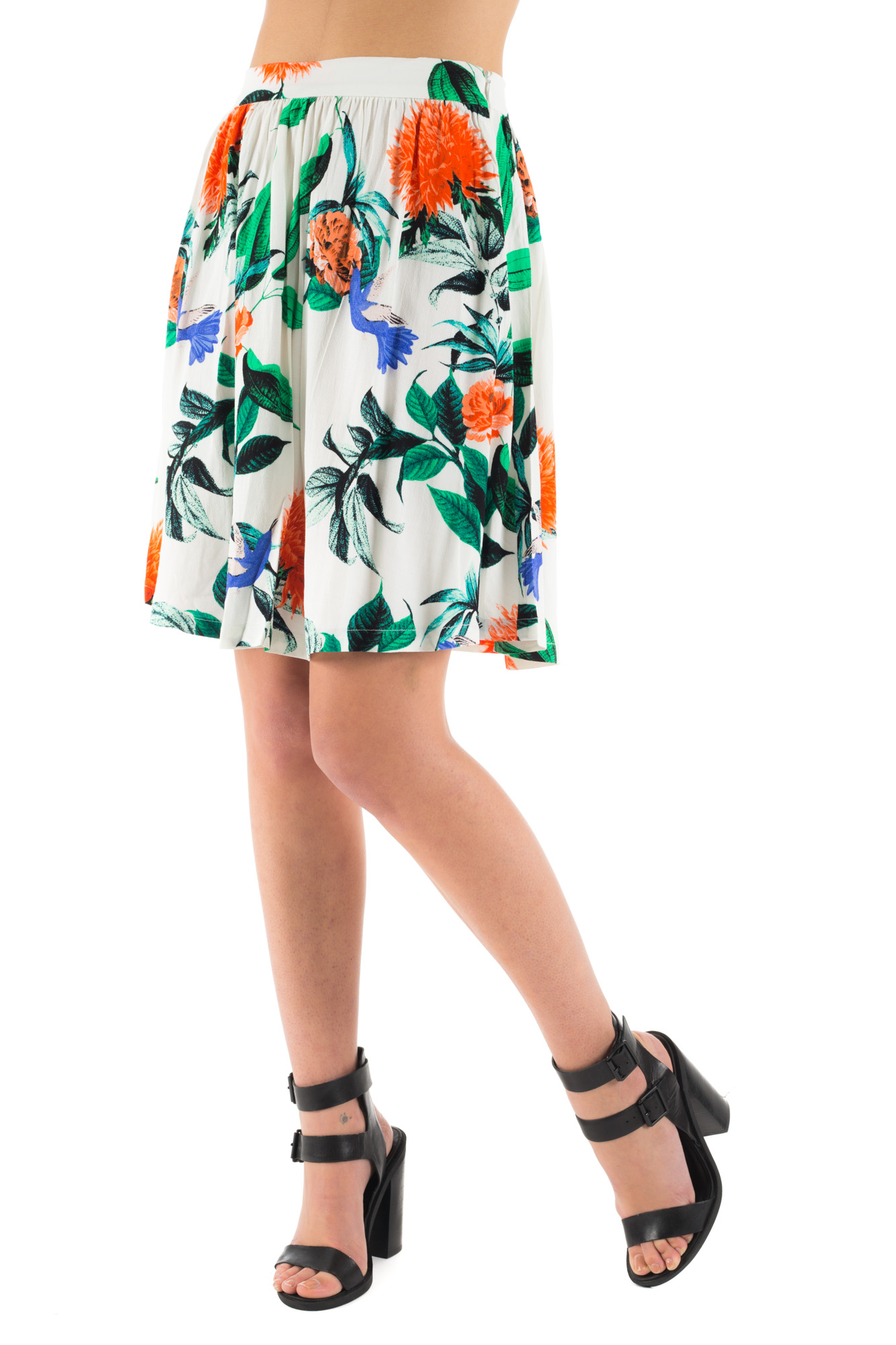 Minimum - Midi Skirt with floral print
