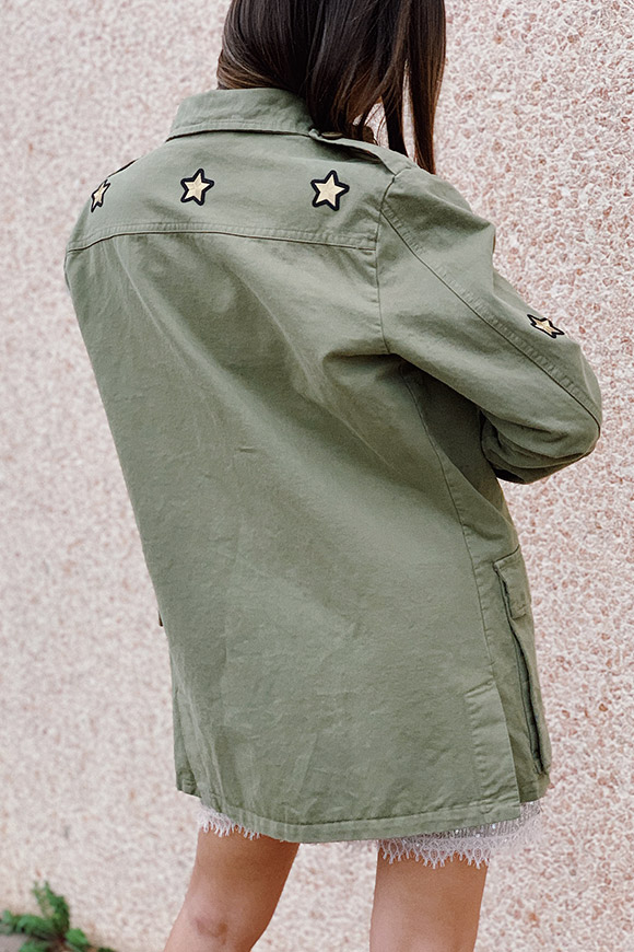 Vicolo - Military style jacket with patch