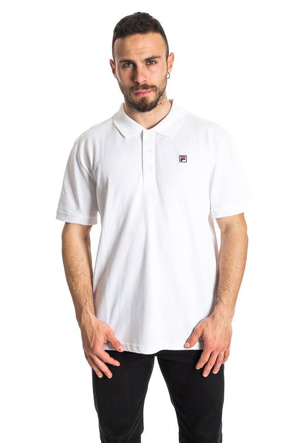 T shirt Polo Bianca con logo