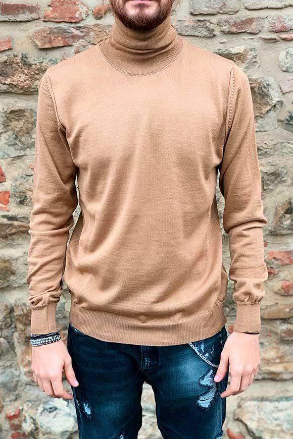 Imperial - Maglione dolcevita cammello basic