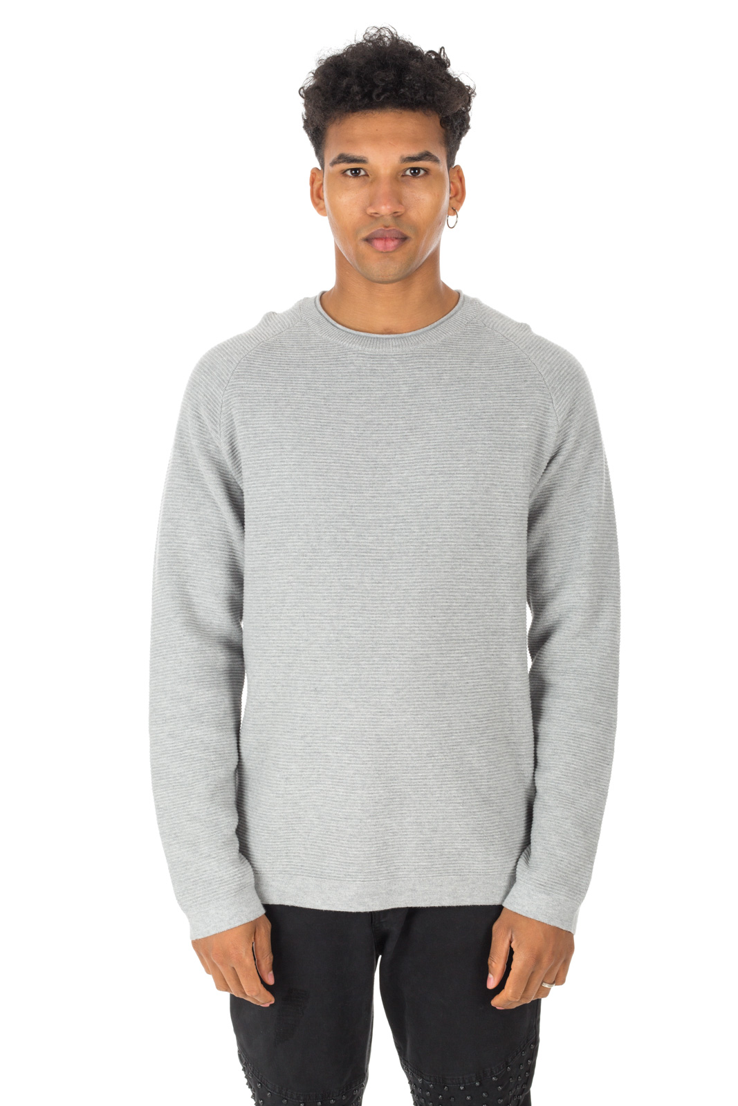 Minimum - Hanson Gray Light Green Sweater