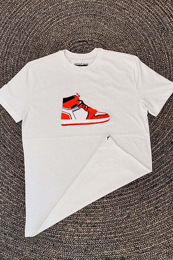 Easy Slip On - T shirt bianca ricamo Jordan Off White