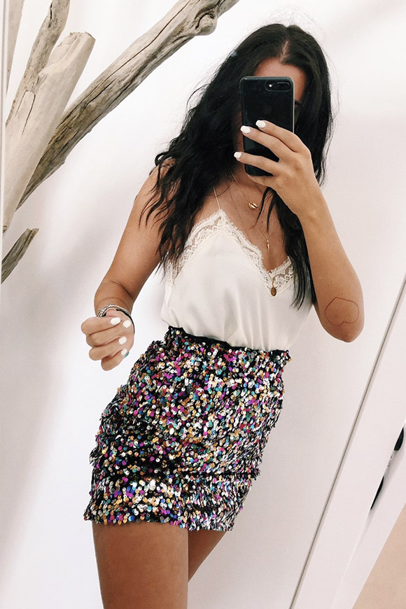Calibro Shop - Skirt in multicolor sequins