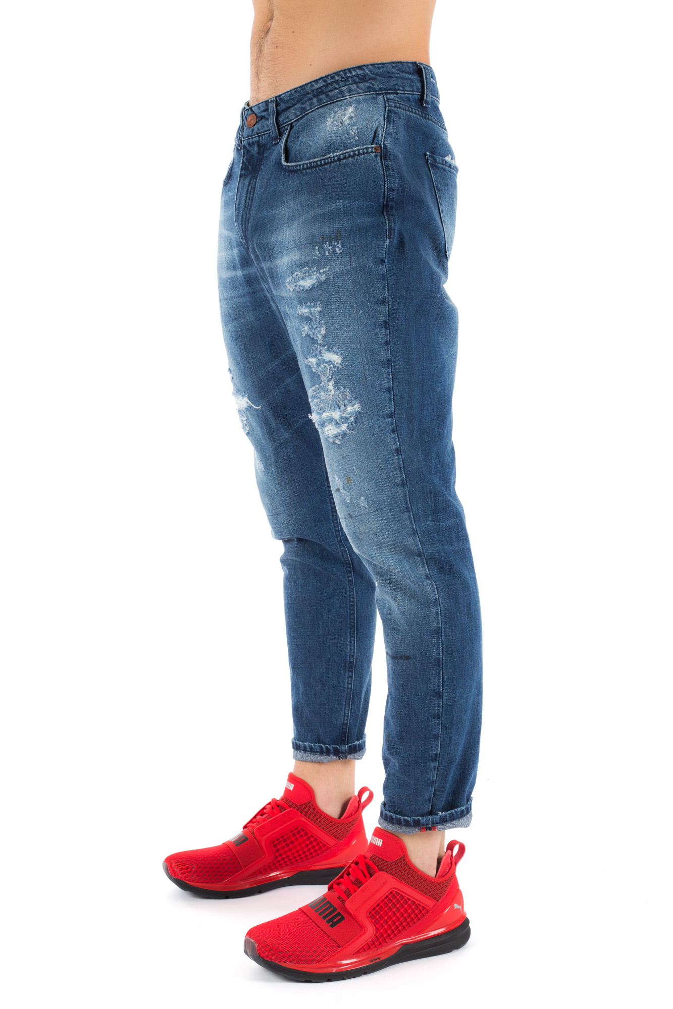 Derrière - Medium stonewash jeans with ripps