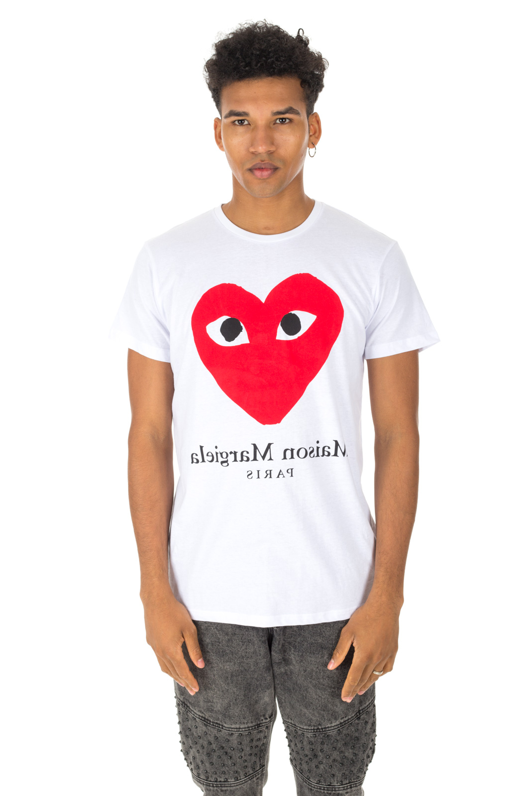 Faking - Comme des Garcons T shirt and Maison Margiela Unisex White