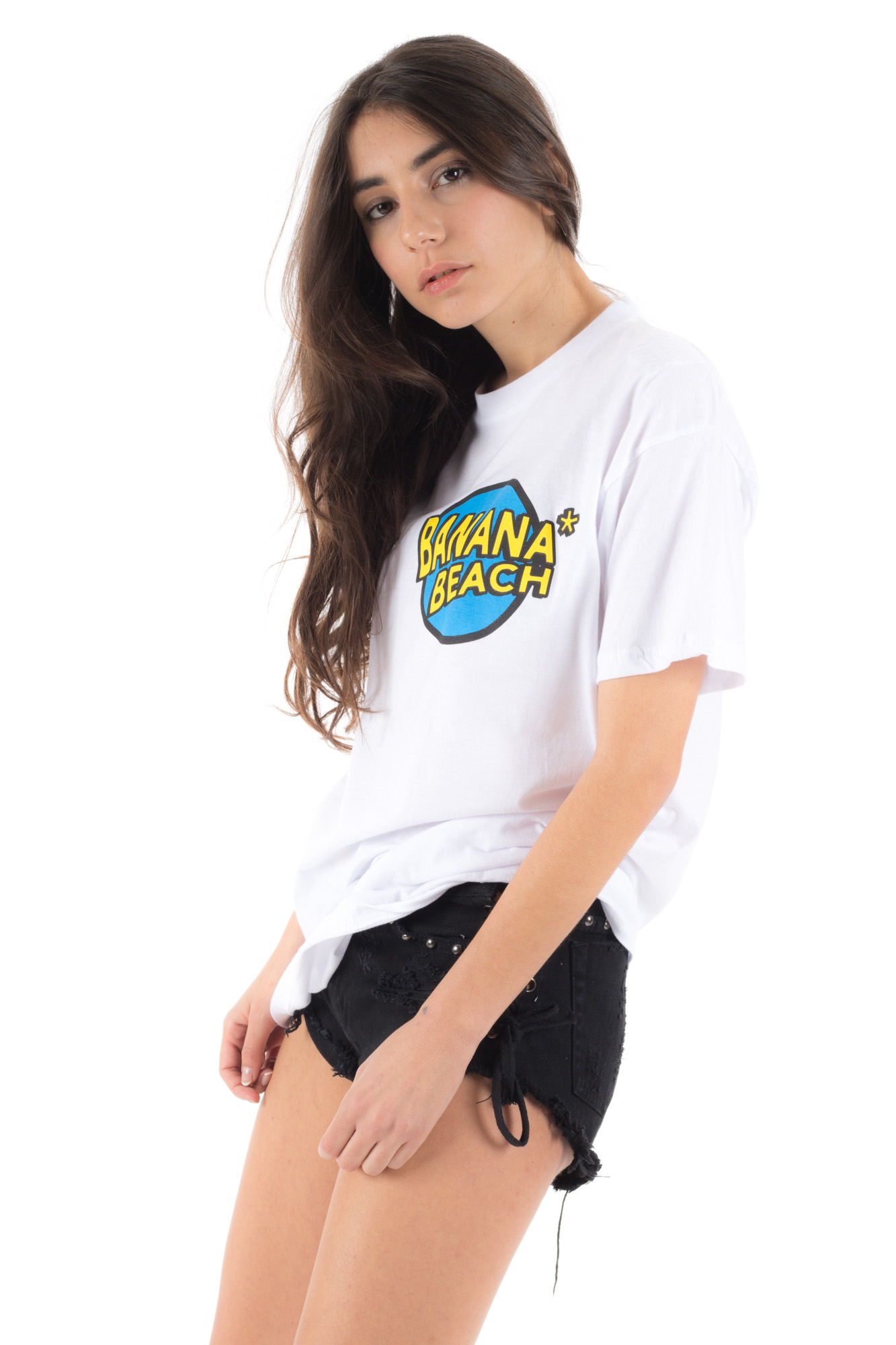 White - Basic T-shirt Banana