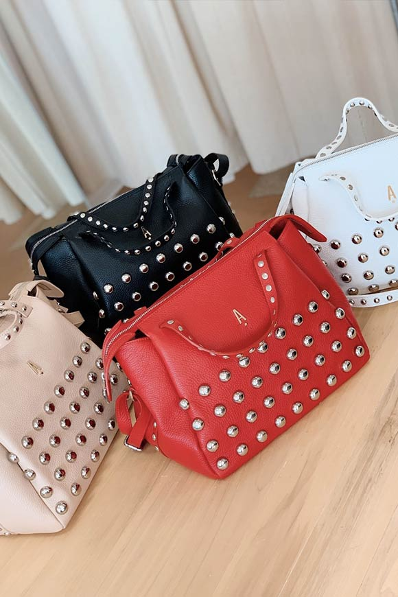 Aniye By - White Tata bag with studs