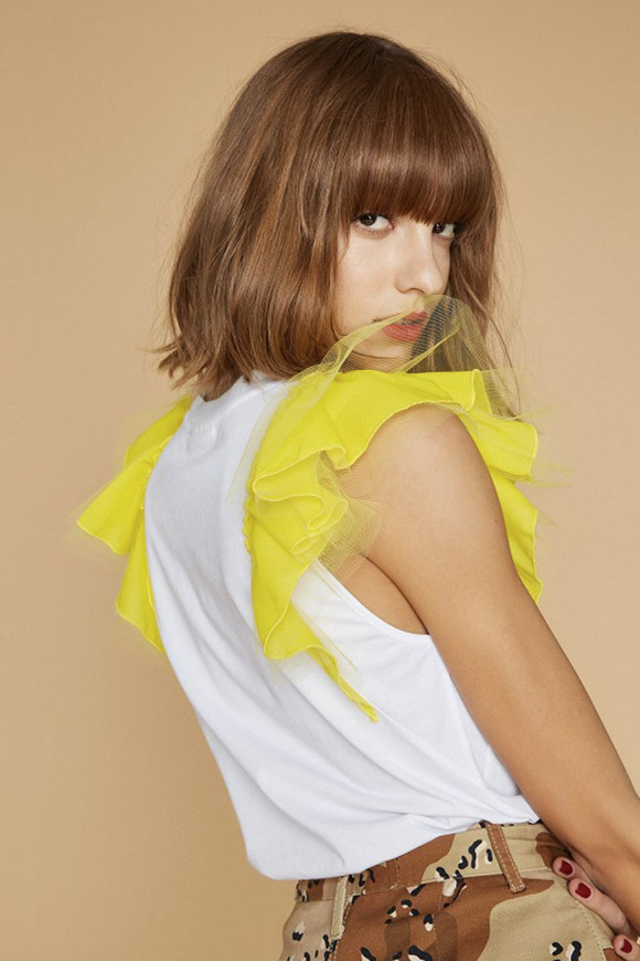 Aniye By - Wings yellow sleeves t shirt