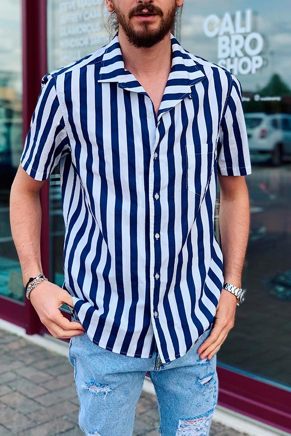 Berna - Blue and white striped shirt