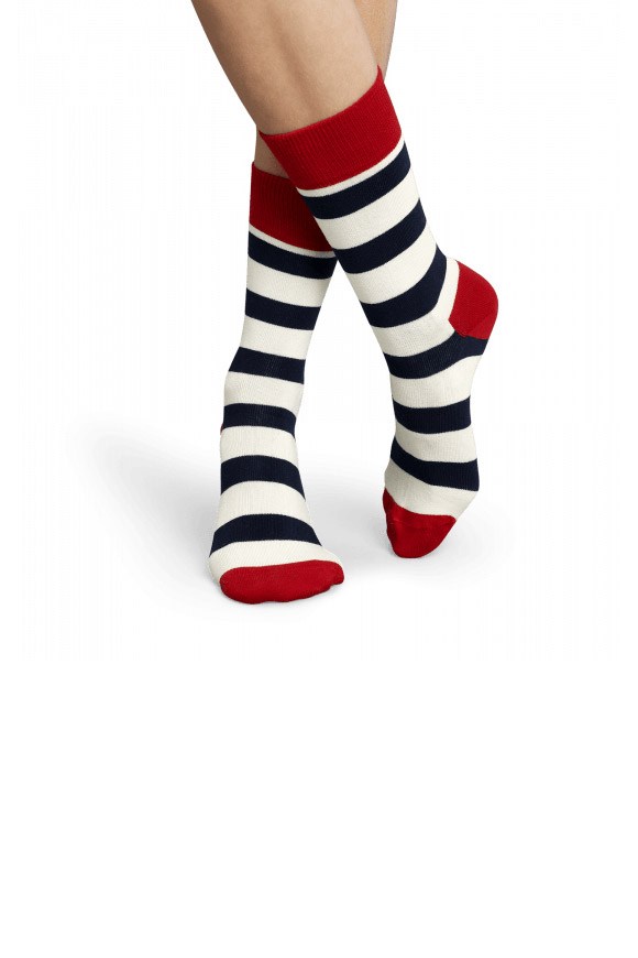 Happy Socks - Unisex red and blue white stockings