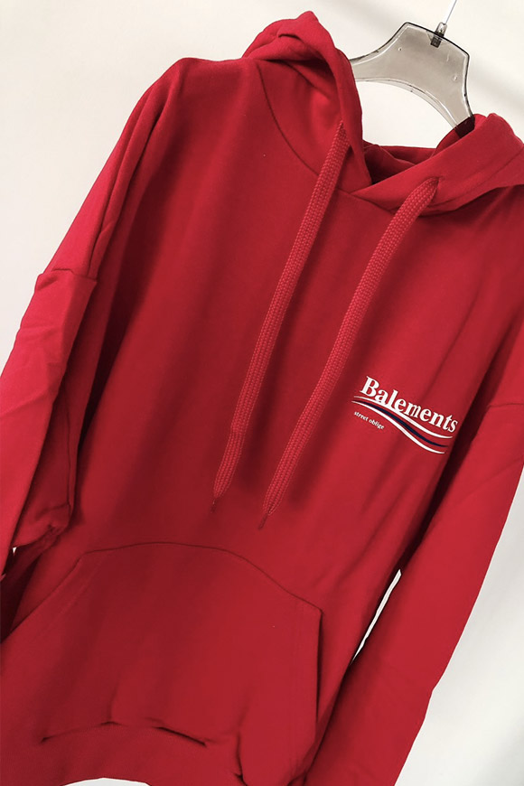 Balements - Balenciaga unisex red sweatshirt