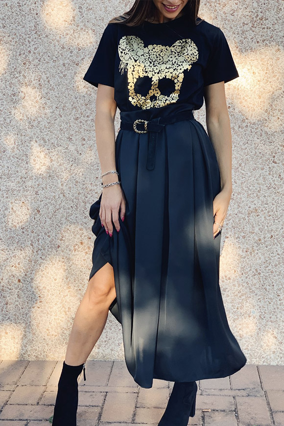 Vicolo - Black wheel skirt