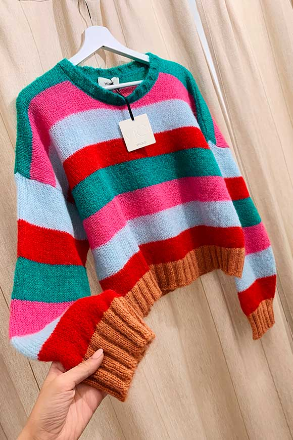 Striped sweater in bright colors
