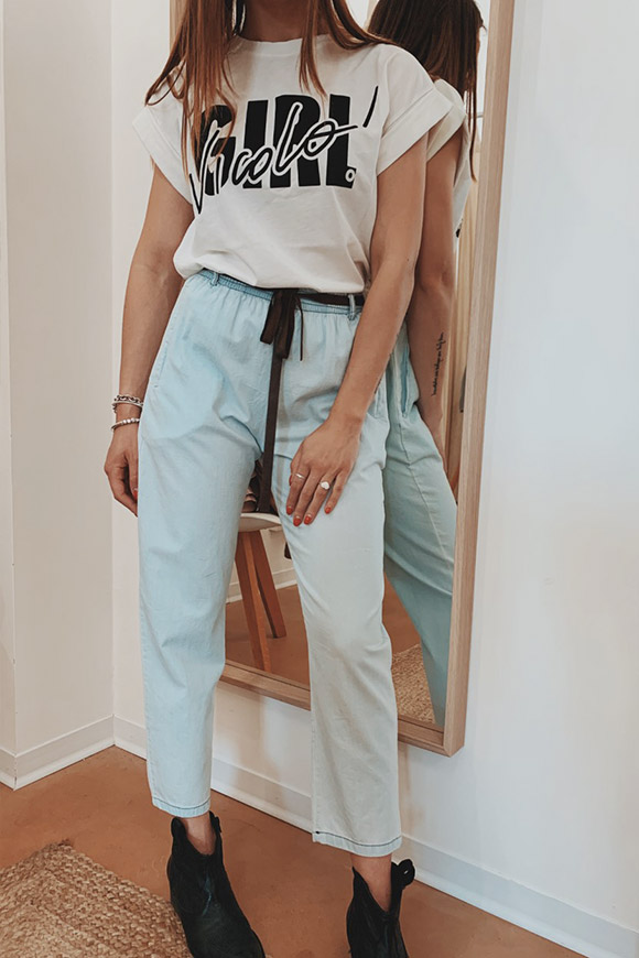 Motel - Light denim style light trousers