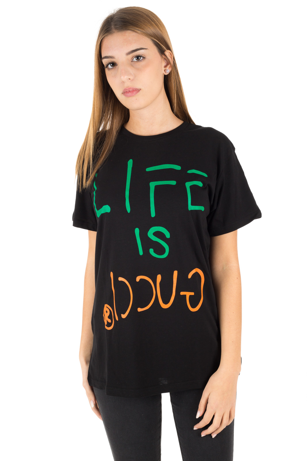 Faking - T shirt Life is Gucci Unisex