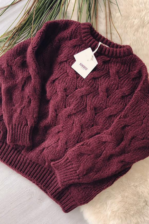 Maglione soffice rosa cipria oversize