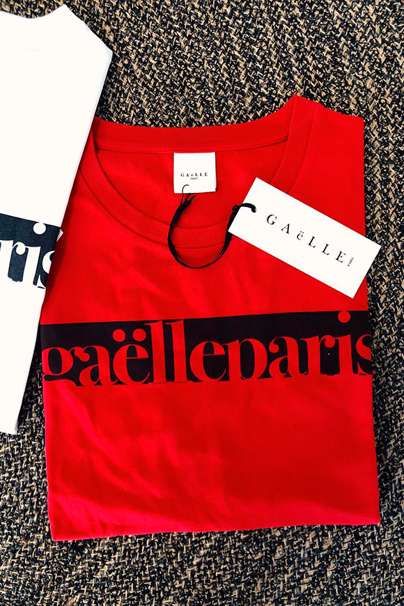 Gaelle - Red T shirt with red logo