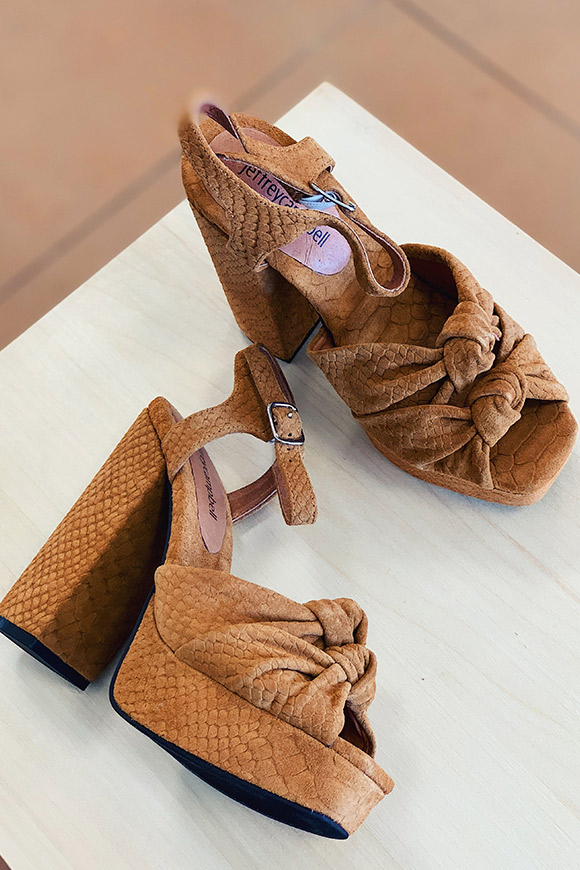 Jeffrey Campbell - Jessa sandals raining camel with bows