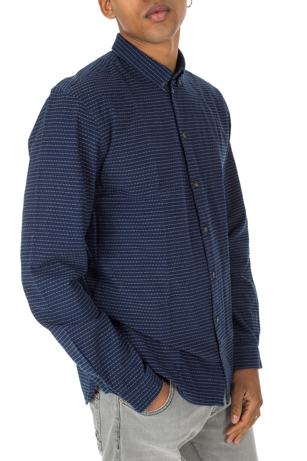 Minimum - Blue Crest Embroidered Shirt