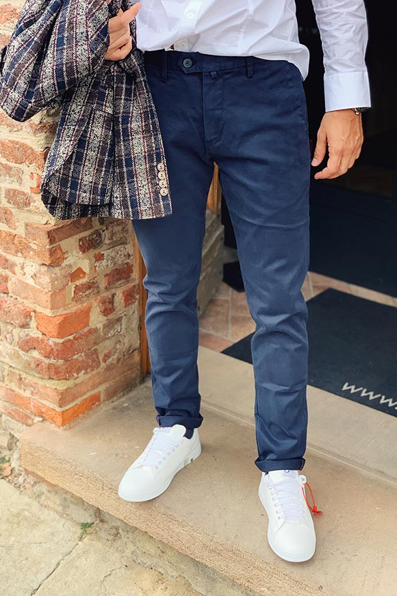 Gianni Lupo - Blue Kevin trousers