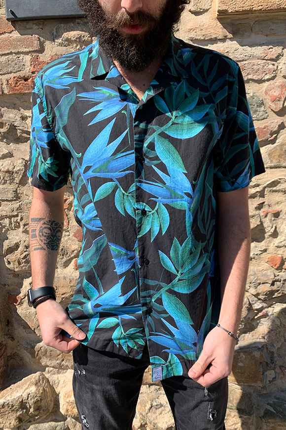Berna - Shirt with short sleeve leaves