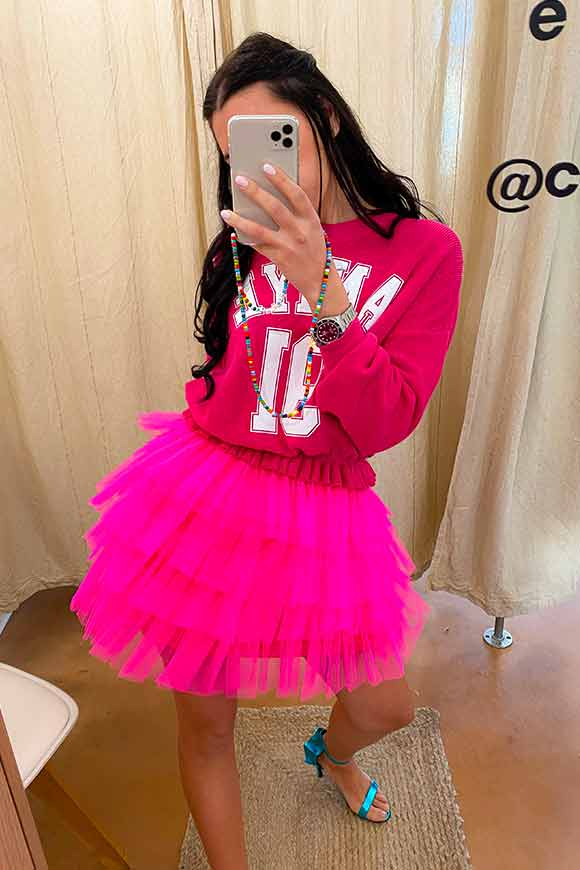 Aniye By - Nina skirt in fluo pink tulle