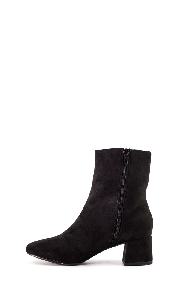 Public Desire - Black Boots with Aruba Ring