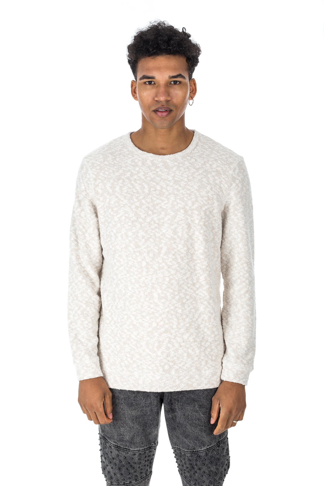 Minimum - White Noshiro Sweater