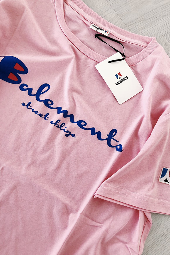 Balements - T shirt Rosa Champion