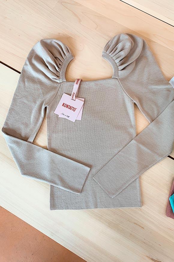 50 NUOVO Maglione Donna Pullover Maglione Pullover A Maglia Cotone Sabbia-BIANCO TG