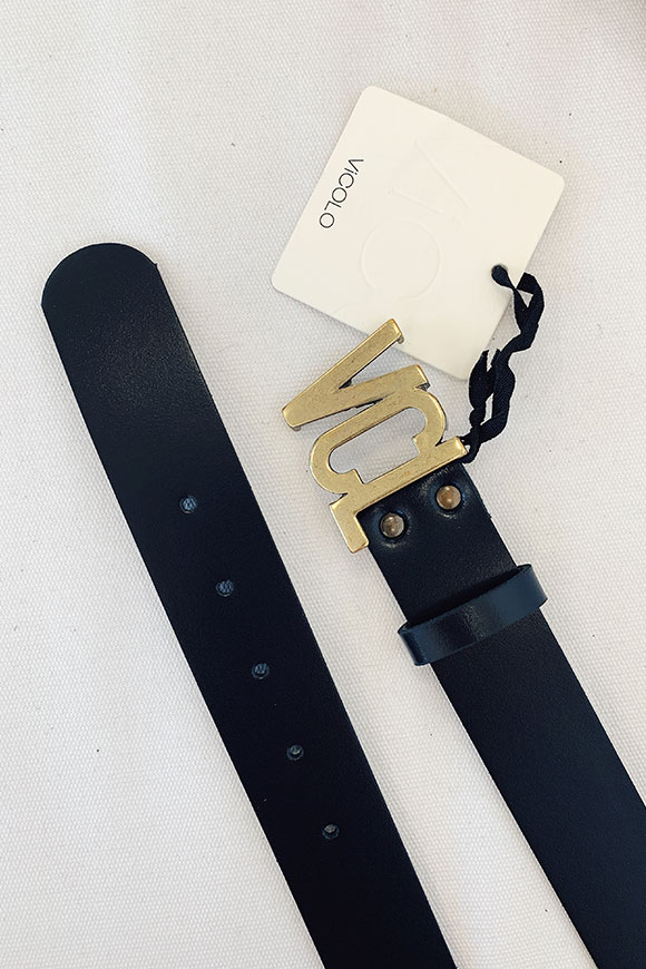 Vicolo - Black belt with VCL buckle