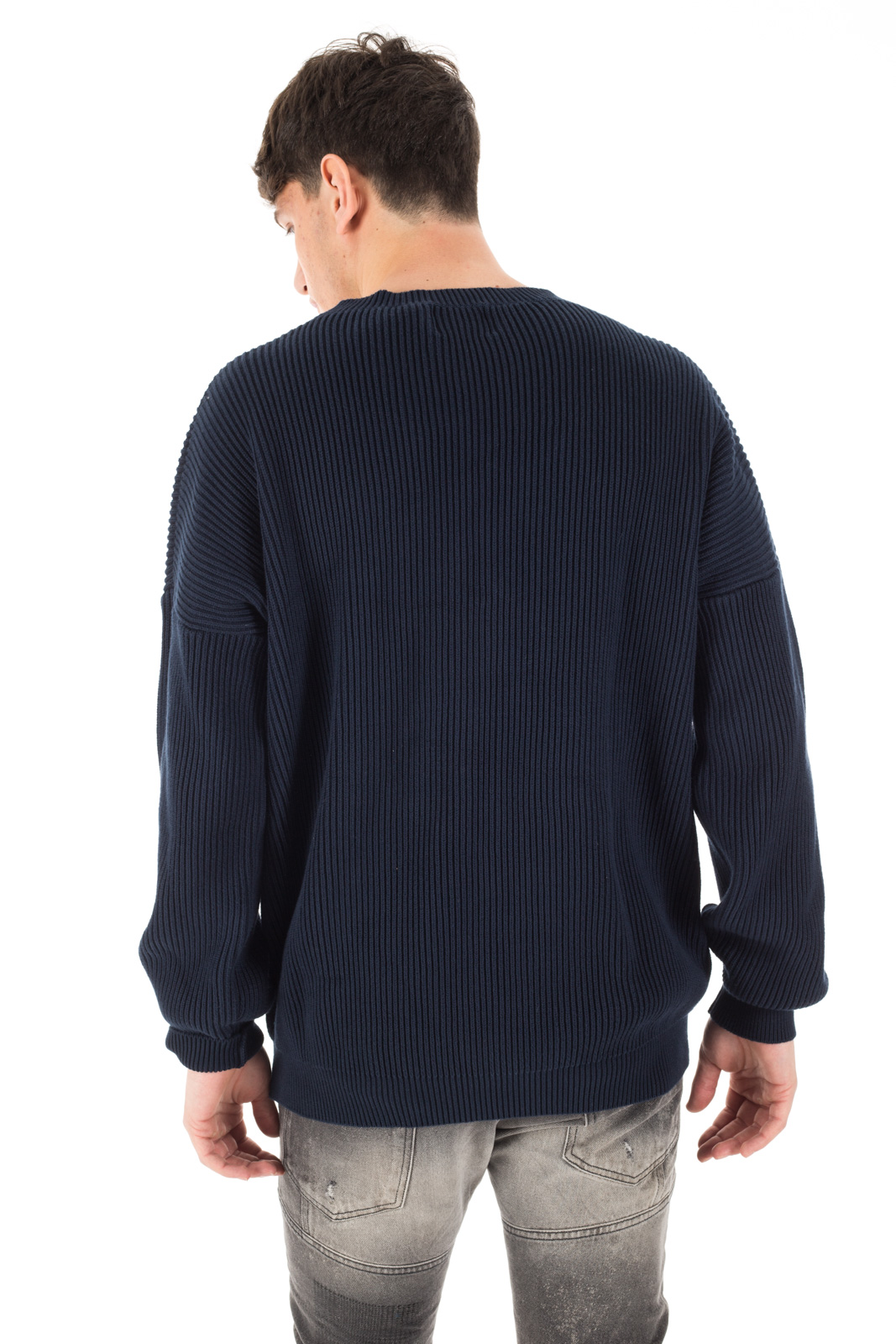 Clap Your Hand - Maglione a coste blu navy