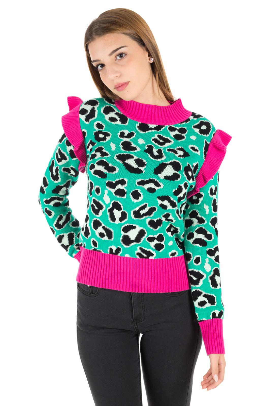 informazioni per abfdb 49b74 Maglione Leopardato con rouche