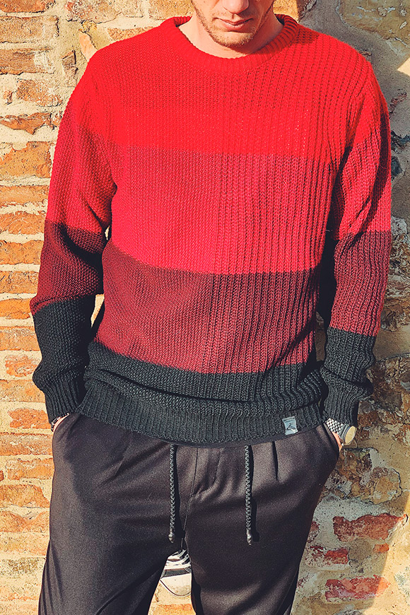 Berna - Red striped sweater