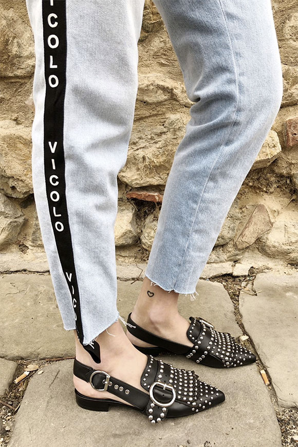 Vicolo - Jeans with band and logo