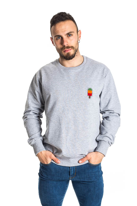 Berna - Sweatshirt with ice cream embroidery