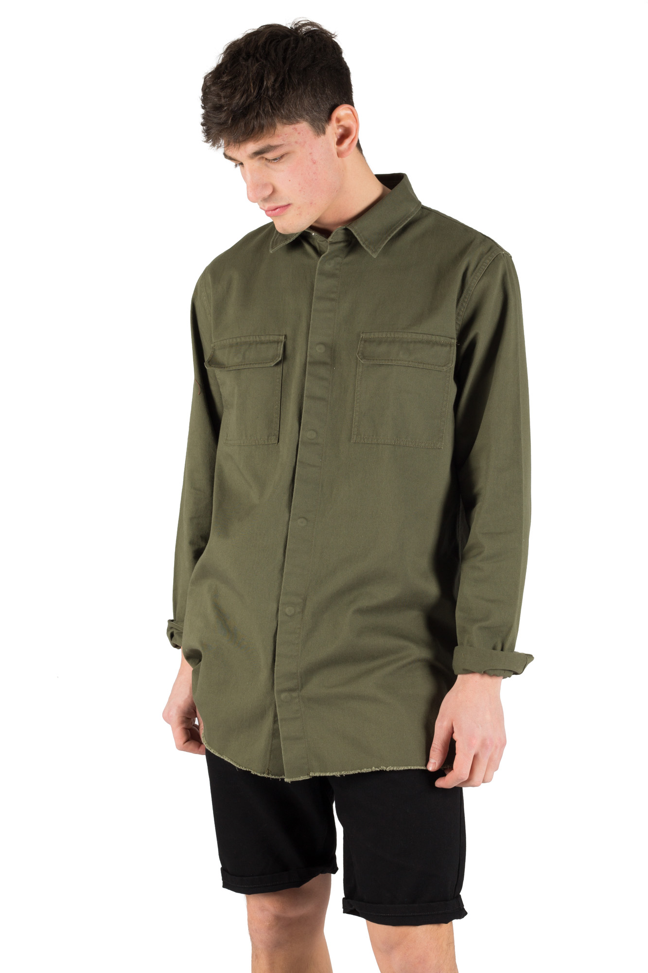 Dr. Denim - Olive denim shirt