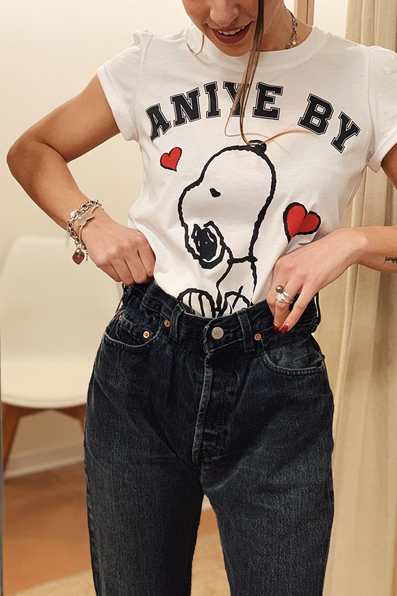 Aniye By - T shirt rouches Snoopy
