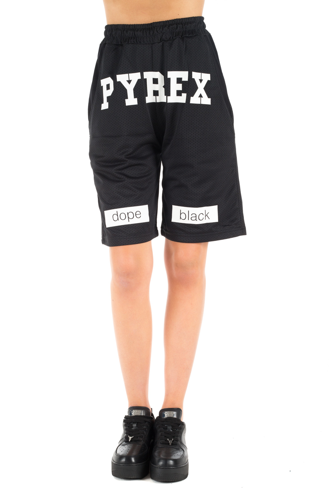 Pyrex - Black Basketball Shorts Unisex
