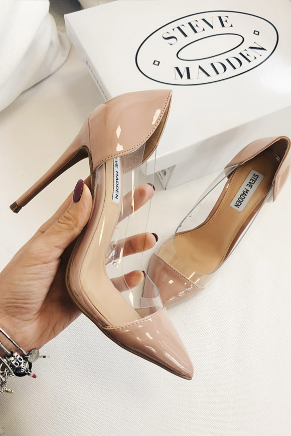 Steve Madden - Transparent décolleté with blush toe Woman