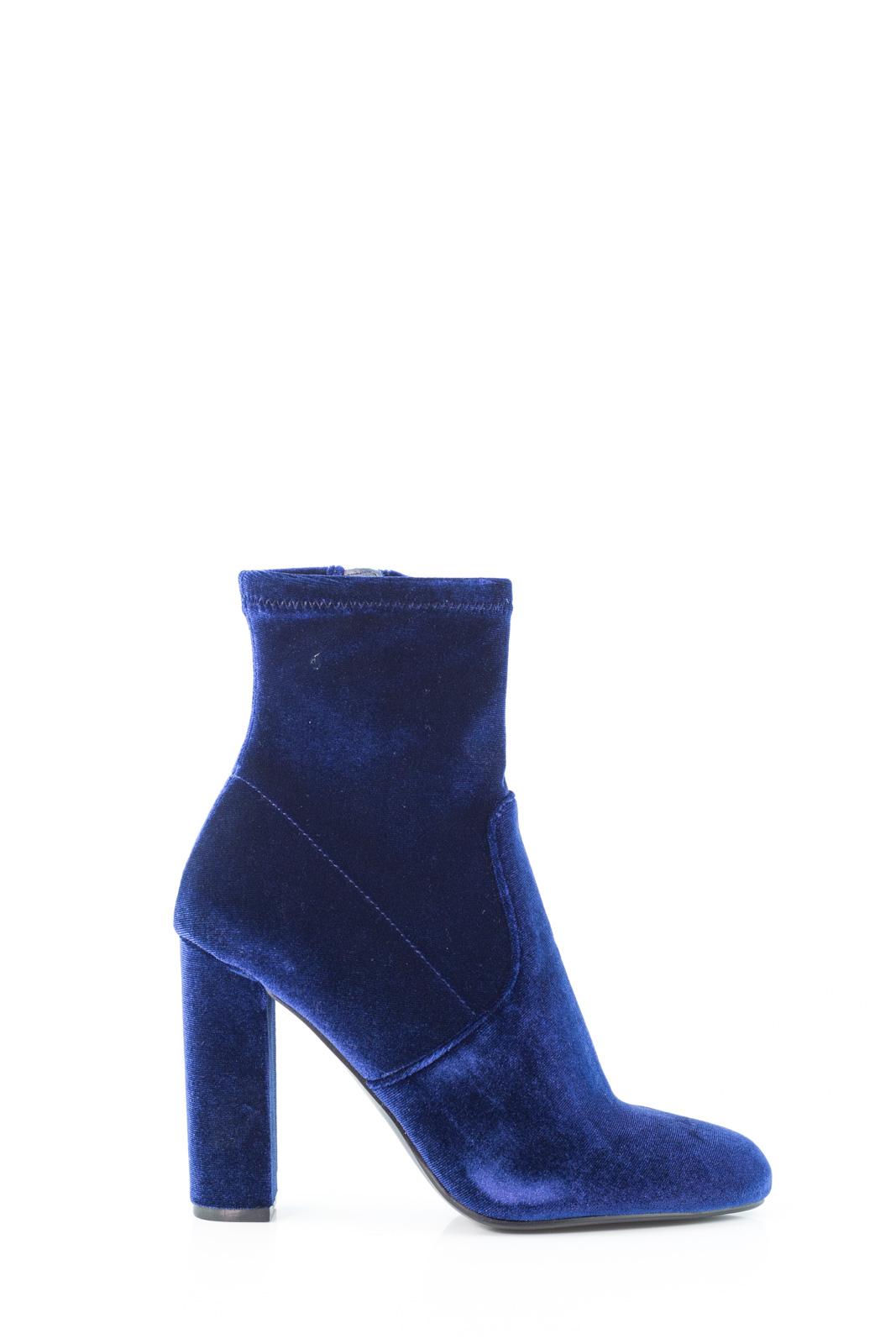 f7429bf7792 Steve Madden Editt Navy Velvet Ankle Boots - Calibro Shop