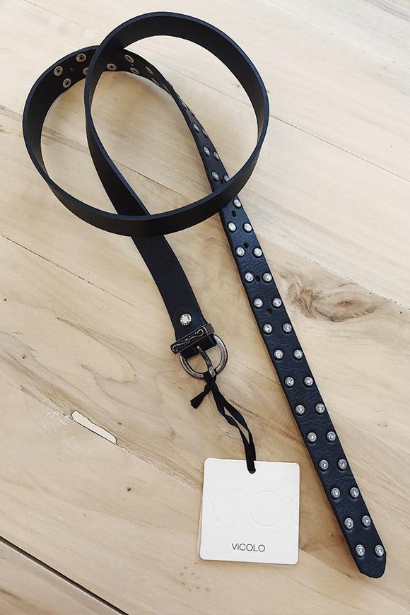 molto carino 53f55 ecae6 Cintura bassa con borchie in vera pelle